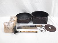 炭籠/灰匙/火箸/炭道具