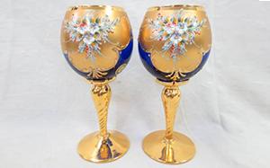 Venetian glass(ベネチアングラス)ムラノガラス ワイングラス