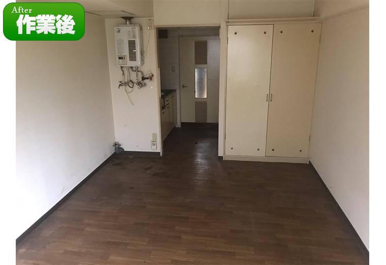 同じ部屋の逆側です:1DKの部屋がずいぶん広くなりました