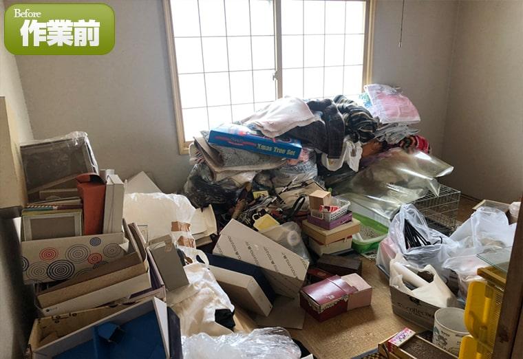 小樽市の一軒家・戸建て5LDKのゴミ処分片付け作業実績(2020年12月)作業前