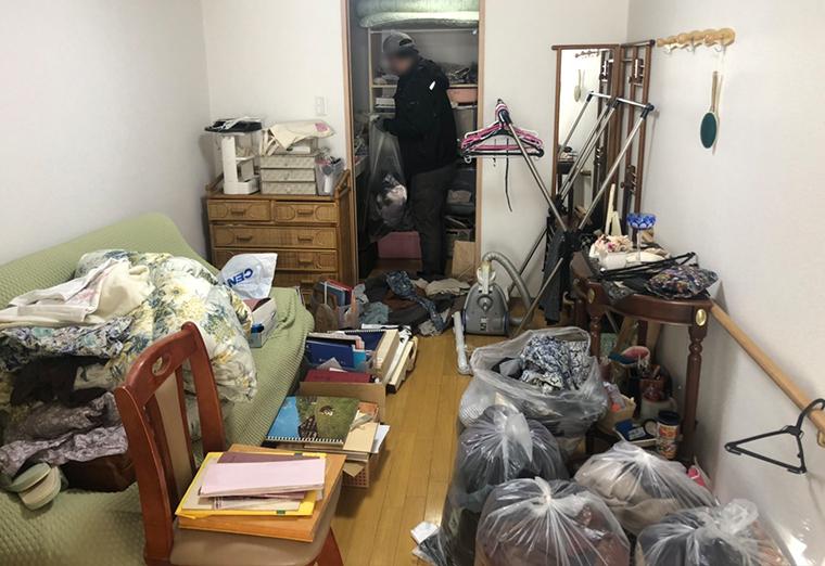 札幌市豊平区の老人ホームで遺品整理作業・処分片付け作業実績(2021年1月)