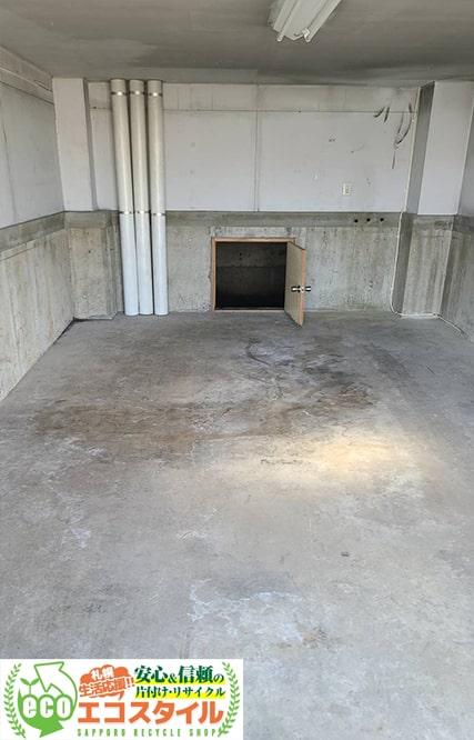 札幌で倉庫・車庫の片付け処分:現場写真実績