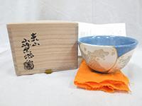 品名:波絵茶碗 作者:山崎窯 浅野紫仙